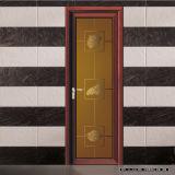 Portes intérieures en aluminium de salle de bains de couleur en bois