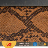 Cuoio del Faux della pelle di serpente del cuoio sintetico per la fabbricazione dei sacchetti con il prezzo molto poco costoso