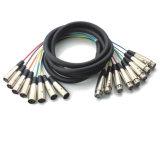 XLR mâle à stéréo Jack Câble de scène Câble de serpent Câble de liaison multicouches (JFA10)