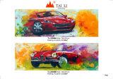 Carro artesanal de artes abstrata pintura a óleo sobre tela