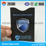 Cartão de proteção dentro do titular do cartão de segurança / manga