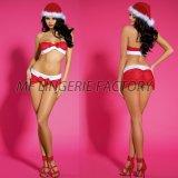 섹시한 산타클로스는 섹시한 크리스마스 복장 섹시한 휴일 복장을 의상을 입힌다