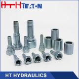 Montaggio di tubo flessibile idraulico dello zinco del tubo flessibile di gomma bianco di placcatura