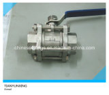 3PC Casting Handle Edelstahl Female NPT Threaded Ball Valve