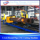 cortadora redonda triaxial del CNC del tubo