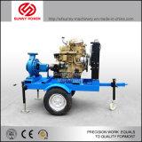 30kw de diesel Pomp van het Water met Beweegbare Aanhangwagen