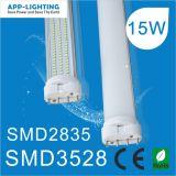 Super Bright 15W 4 Pinos levou Pl 2g11 tubo de luz para baixo do teto