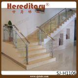 Balustre en verre noir enduit d'acier inoxydable de balustrade d'escalier de pouvoir d'intérieur (SJ-S132)