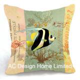 Het decoratieve Vierkante Tropische Kussen W/Filling van de Stof van het Decor van het Ontwerp van Vissen
