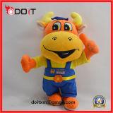 La peluche de corporation faite sur commande de vache à mascotte a bourré le jouet bourré de peluche