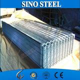 Folha de aço ondulada galvanizada 22 calibres de fabricação da telhadura
