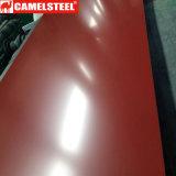 Bobine enduite d'une première couche de peinture violette rouge PPGL de Ral 4002 Gl