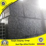 Especificación de la sección 20X20m m de la depresión del acero de carbón de ms Black