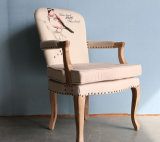 단단한 나무로 되는 의자 거실은 착석시킨다 커피 의자 직물 의자 (M-X2057)를