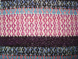厚い針の多彩な縞の編むファブリック