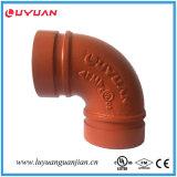 Gomito Grooved dell'accessorio per tubi del ferro duttile 90 con FM/UL approvato