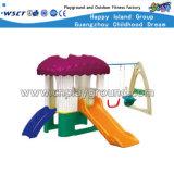 Oscillazione del giocattolo e campo da giuoco di plastica della trasparenza per il capretto (M11-09302)