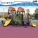 Matériel en plastique HD-007A de glissière de cour de jeu extérieure de jardin d'enfants