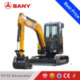 Máquina escavadora hidráulica da esteira rolante de Sany Sy35 mini feita em China
