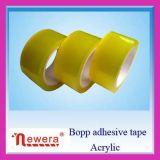 Starkes Stickness gelbliches selbstklebendes Band der Farben-BOPP