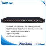 24 гигабитных портов 2 комбинированных порта Gigabit SFP осуществляется на основе оптоволоконных коммутаторов Ethernet
