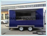 台所装置無煙BBQのキャンピングカーヴァンが付いている移動式セリウムのクリームのトレーラー