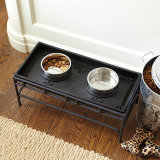 Cassetto d'alimentazione dell'alimentazione della ciotola dell'alimento dell'acqua per gli animali domestici dei gatti del cane
