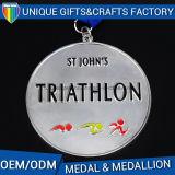 Medaglioni molli di sport della medaglia del metallo del ricordo dello smalto del metallo