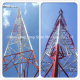 Angle de treillis en acier triangulaire télécom tour de télécommunication