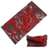 Red+Black 운이 좋은 디자인 이음새가 없는 스카프
