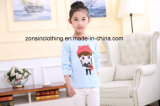 綿は女の子の子供の着ることの長い袖のTシャツを作った