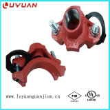 T meccanico del ferro duttile con presa filettata