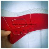 Sapatos de desporto feminino com sola de PVC superior e branca vermelha