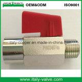 Mini valvola a sfera d'ottone cromata qualità/piccola valvola del tubo flessibile (AV-MI-2008)