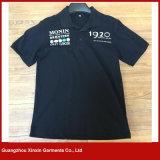 Gli uomini comerciano la breve maglietta all'ingrosso comoda 100% del cotone del collo 200g di polo del manicotto (P129)
