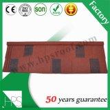 Tuiles enduites en métal de toiture de construction de mode de matériau de pierre colorée lumineuse de feuille