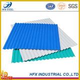 색깔은 건축재료에서 이용된 강철 지붕 장을 주름을 잡았다