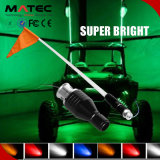 UTV / ATV / Carro / Caminhão 4FT 5FT 6FT RGB LED Flag Light Bandeira de LED removível 10W LED Flag Pole Light