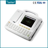 Beweglicher Kanal ECG Digital-Comen Cm600 sechs mit einer 5.7 Zoll-Farbe LCD