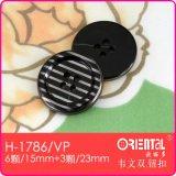 Il Vacuum Plating Stripe 4-Holes Button