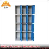 Cacifo do gabinete de armazenamento da mobília do metal do compartimento de 12 portas