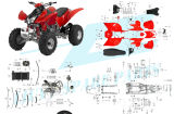 Podemos proporcionar a piezas completas de 250cc ATV