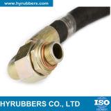 Boyau hydraulique à haute pression tressé de fibre de SAE100 R4