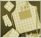 다색 인쇄 패턴으로 요리를 위한 면과 리넨 부엌 앞치마
