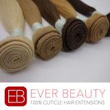 クチクラのバージンのブラジルの人間の毛髪の織り方