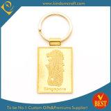 Высокое качество индивидуальный логотип мода для мелких предметов оборудования Металлообработка эмаль цинкового сплава золота лист цепочки ключей с кольцом
