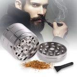 4 Camadas de triturador de tabaco de metal moinho de mão moedor de ervas de fumo