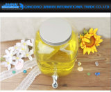 Flaschen-Speicher-Glas des Wasser-8L für Wein oder Saft mit Hahn und Schutzkappe