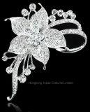 زهرة رومانسيّ دبوس الزينة بلّوريّة لأنّ نساء يتزوّج وحزب ثوب فضة [رهينستون] دبوس الزينة دباسات زفافيّ ([بر-09])
