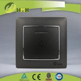 Gruppo variopinto del piatto certificato CE/TUV/CB 1 di standard europeo con l'interruttore NERO di spinta del LED Bell